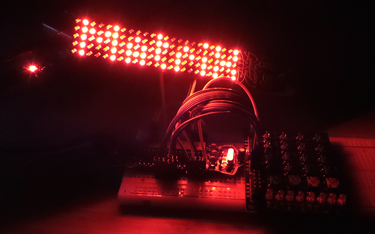 LEAP#307 using a keypad for putting arbitrary messages on the #BoldportClub Matrix