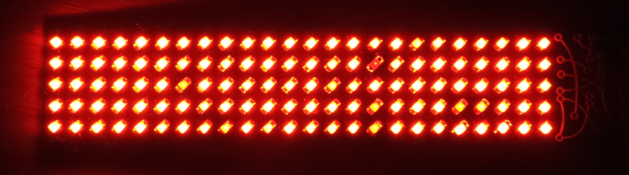 LEAP#300 The #BoldportClub Matrix LED test .. all systems are go!