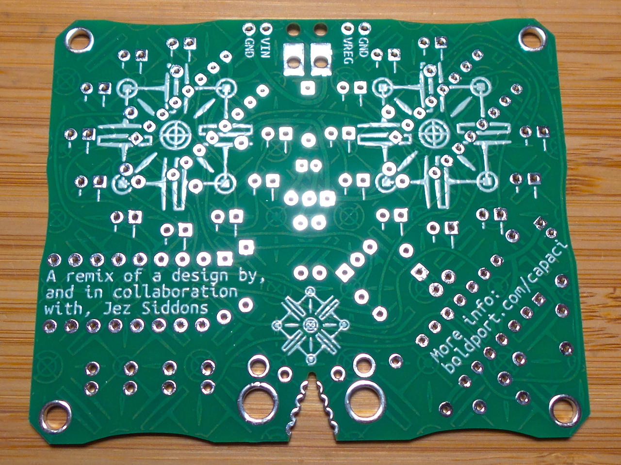 a little freeform and solder dome treatment for the #BoldportClub capacimeter LEAP#447