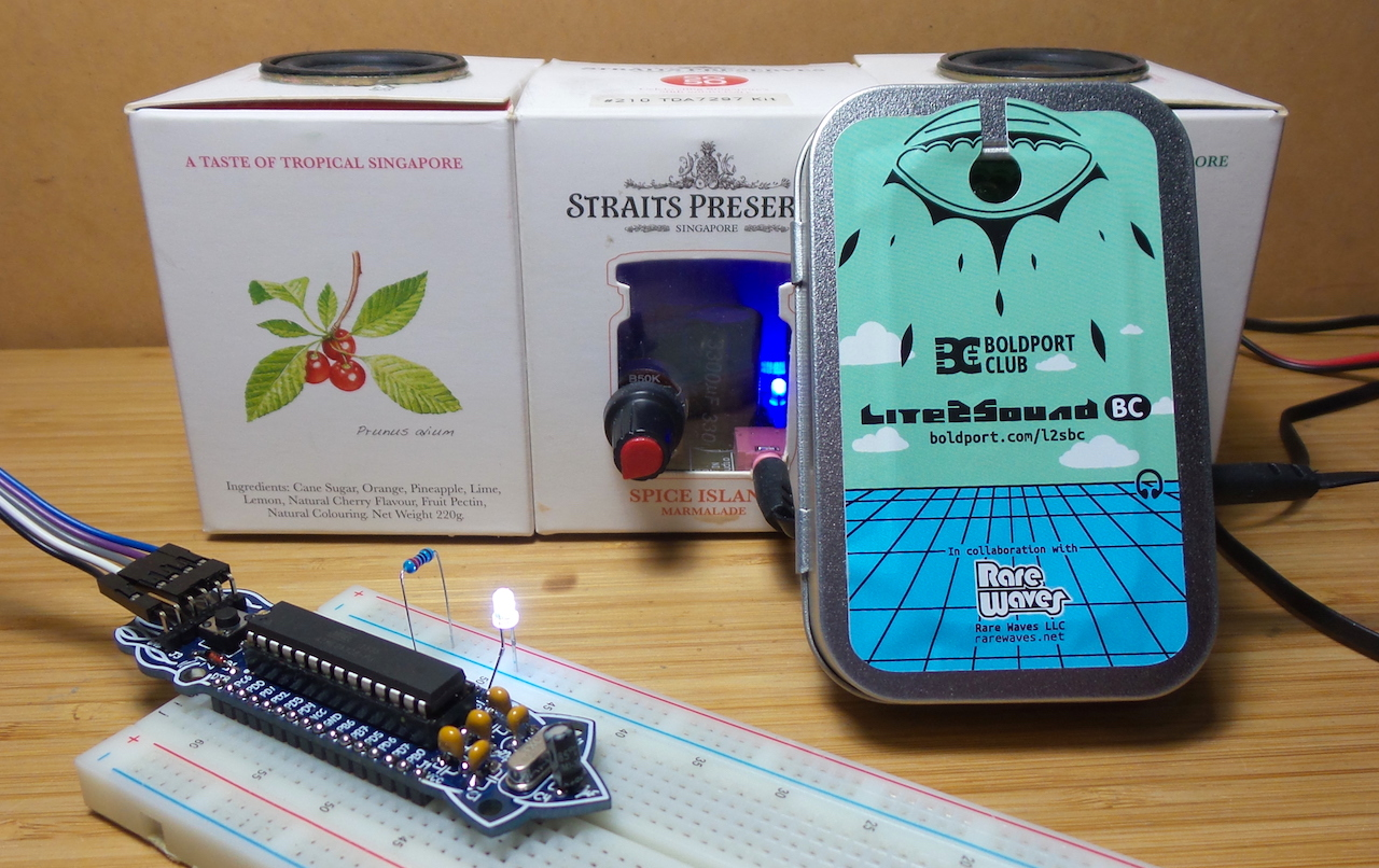 picking up the Spirit of Saar over LiFi with a Cuttle and Lite2Sound #BoldportClub LEAP#420