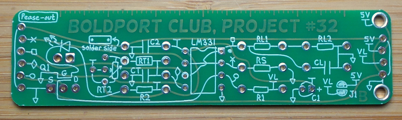hacking the #BoldportClub pease-out to whistle voltage levels LEAP#456